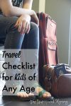 Before You Forget (Again), Use This Travel Checklist for Kids