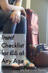 travel checklist for kids