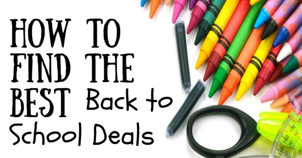 how to find the best back to school deals