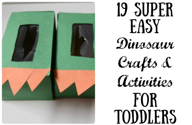 19 super easy dinosaur crafts and activities for toddlers