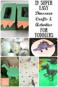 19 Super Easy Dinosaur Crafts & Activities for Toddlers - Kids love to play with dinosaurs. So let's make it easier for them to do that. I can't wait to do them all!