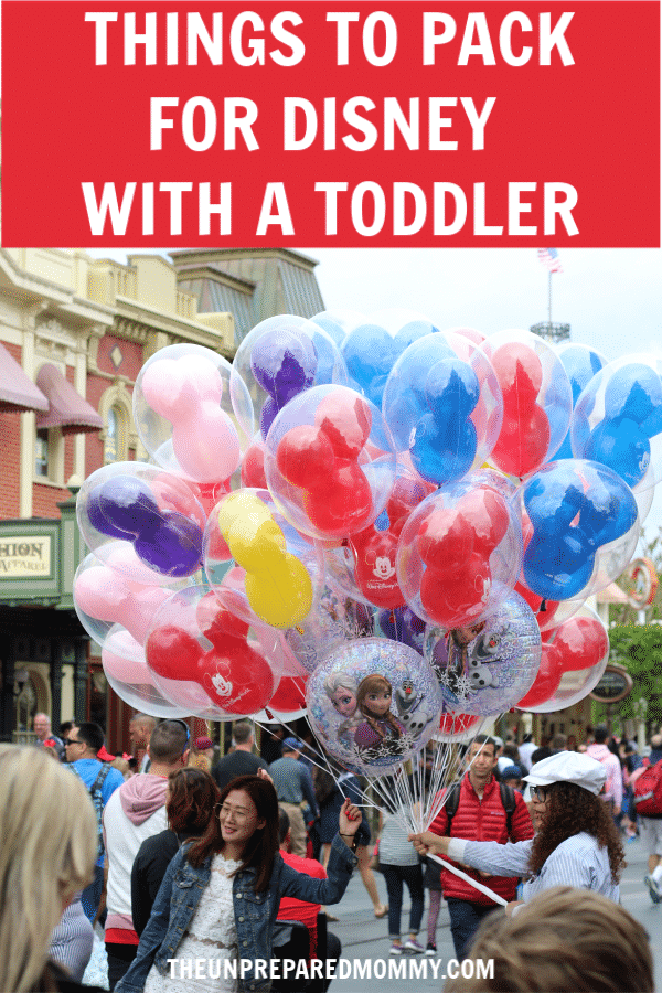 When you take your toddler to Disney, you will definitely have to bring these items with you. #disney #toddler