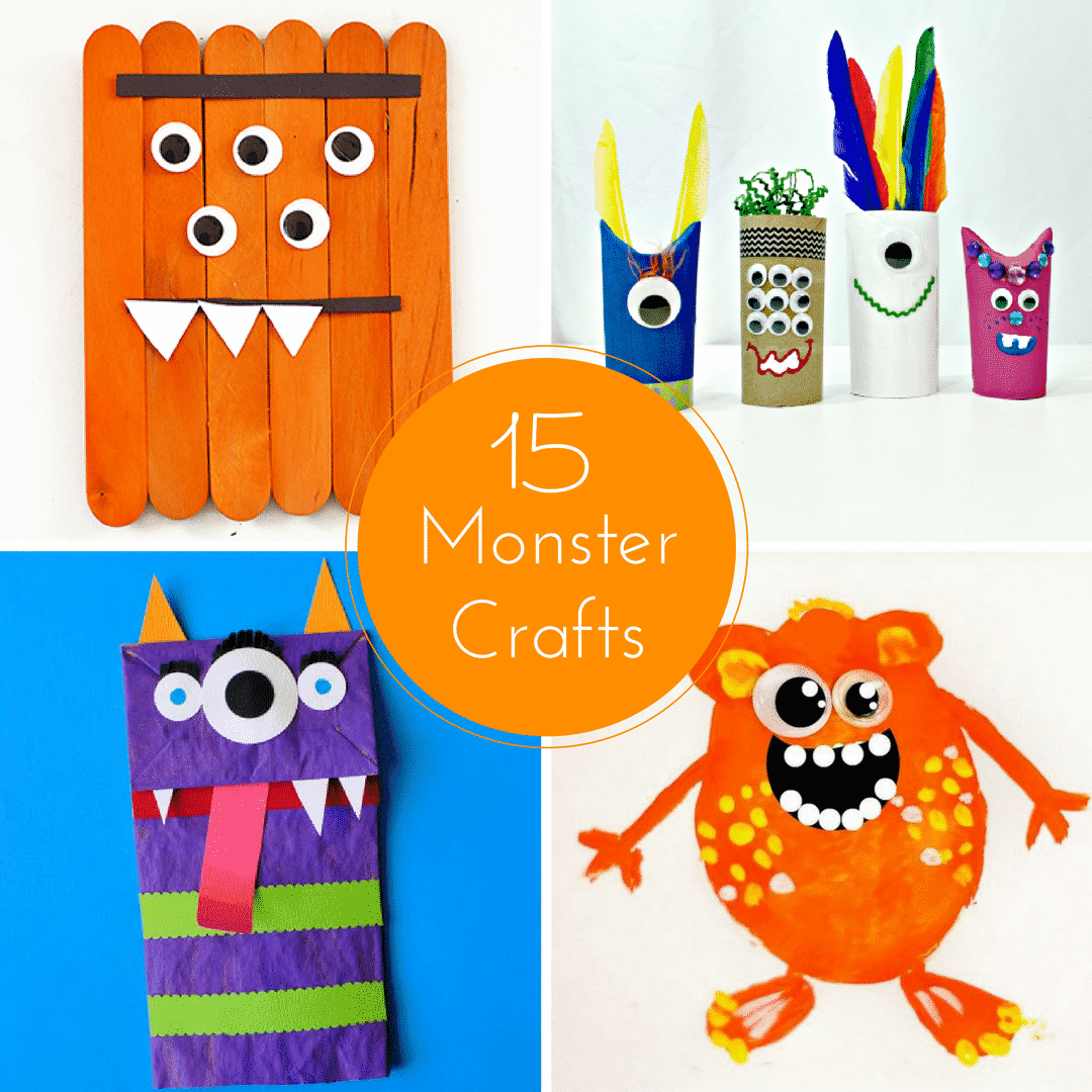 15 Cute Monster Crafts for Kids