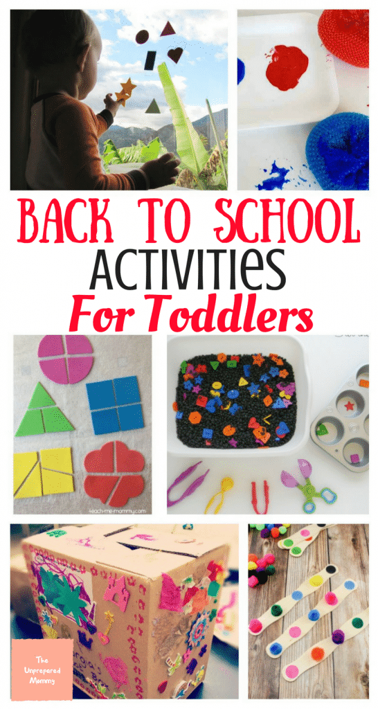 Back to School Activities for Toddlers - The Unprepared Mommy