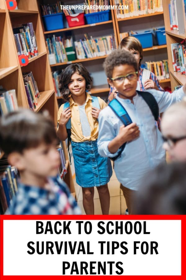 With your kids going back to school, parents need survival tips to make it through. #backtoschool #kids #parenting