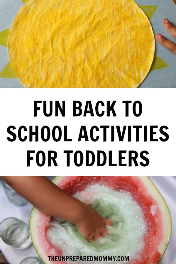 These back to school activities are great for toddlers to get back into the swing of things. #toddlers #activitiesforkids #parenting