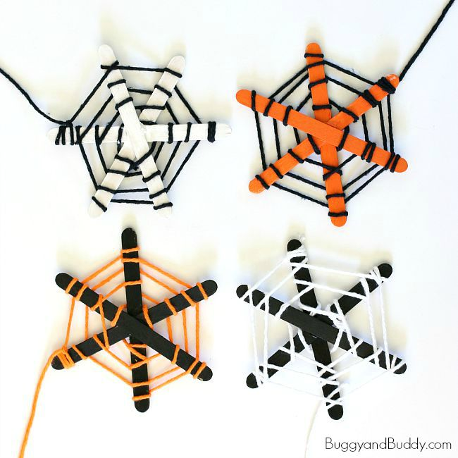 spider web halloween craft