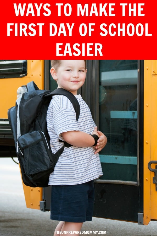 The first day of school can be scarier for kids of any age. Learn how you can make the first day of school easier and more fun. #backtoschool #school #firstdayofschool #kids #parentings
