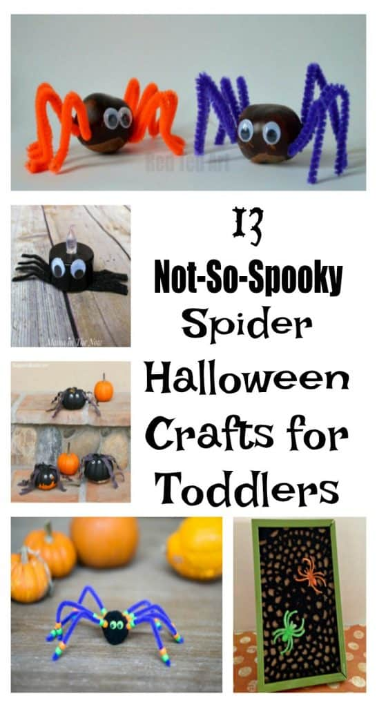 Looking for easy spider Halloween crafts for toddlers or for your kids to make? These are great for kids that are younger or in preschool because they aren't scary!