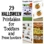 29 Halloween Printables for Toddlers and Preschoolers