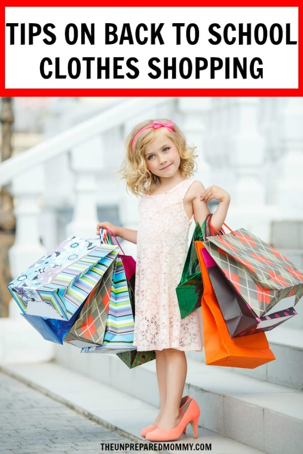Learn how to make back to school clothes shopping a breeze with these tips. #backtoschool #shopping #kids #parenting