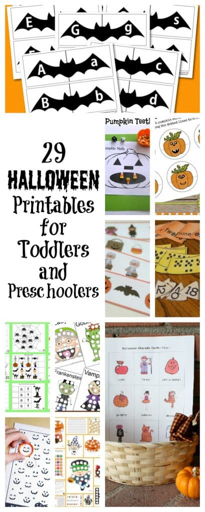 These free Halloween printables for toddlers and preschoolers are a sure way to entertain your little ones this holiday season.
