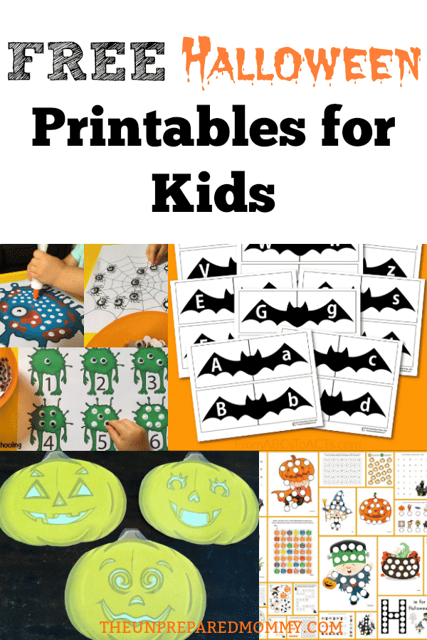 This collection is free Halloween printables for kids is sure to keep your kids busy this Halloween! #Halloween #craftsforkids