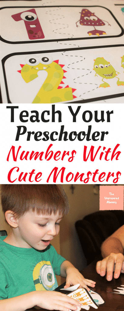Children always love to play with cute monsters, so why not help them learn their numbers at the same time?
