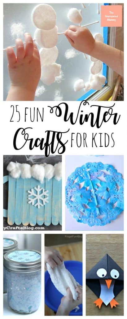 These 25 fun winter crafts for kids of any age that is sure to spark their imagination.