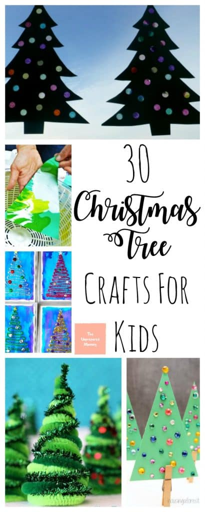 These Christmas tree crafts for kids are great to allow little ones to decorate their own tree instead of tearing down the big one.