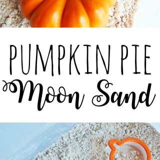 This DIY pumpkin pie scented moon sand recipe can provide hours of fun for your toddler or preschooler.