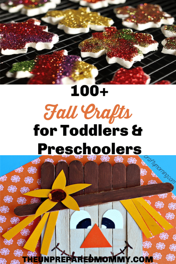 These Fall crafts for kids are a great way to keep your kid entertained when the weather gets cooler. #fallcrafts