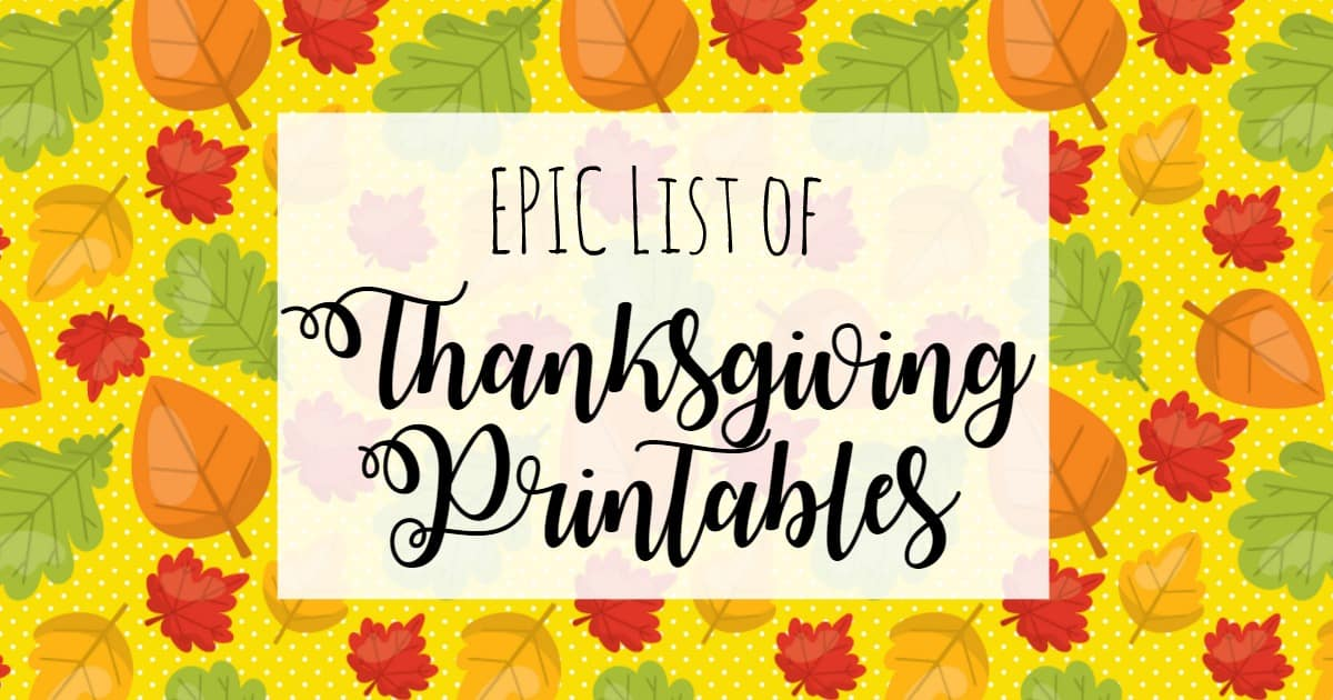 250 Free Thanksgiving Printables For Toddlers And Preschoolers - The  Unprepared Mommy