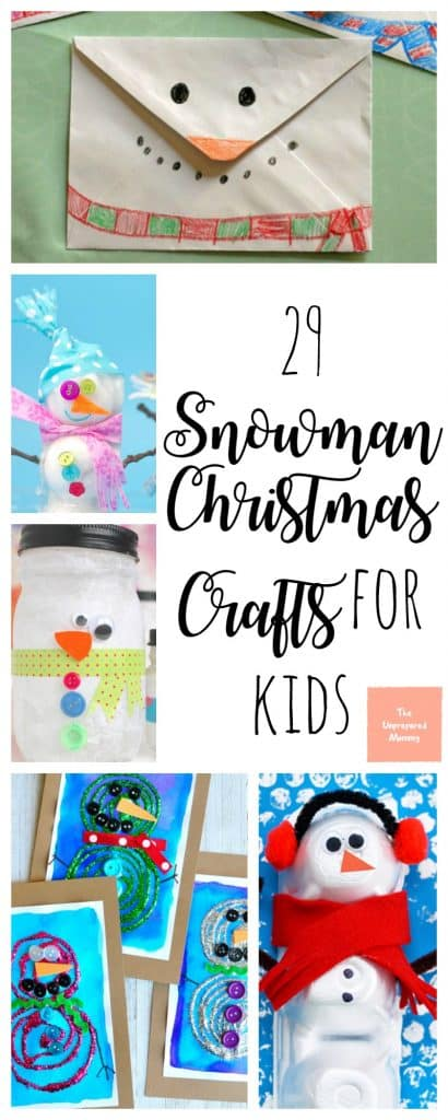 These snowman Christmas crafts for kids will definitely melt your heart!