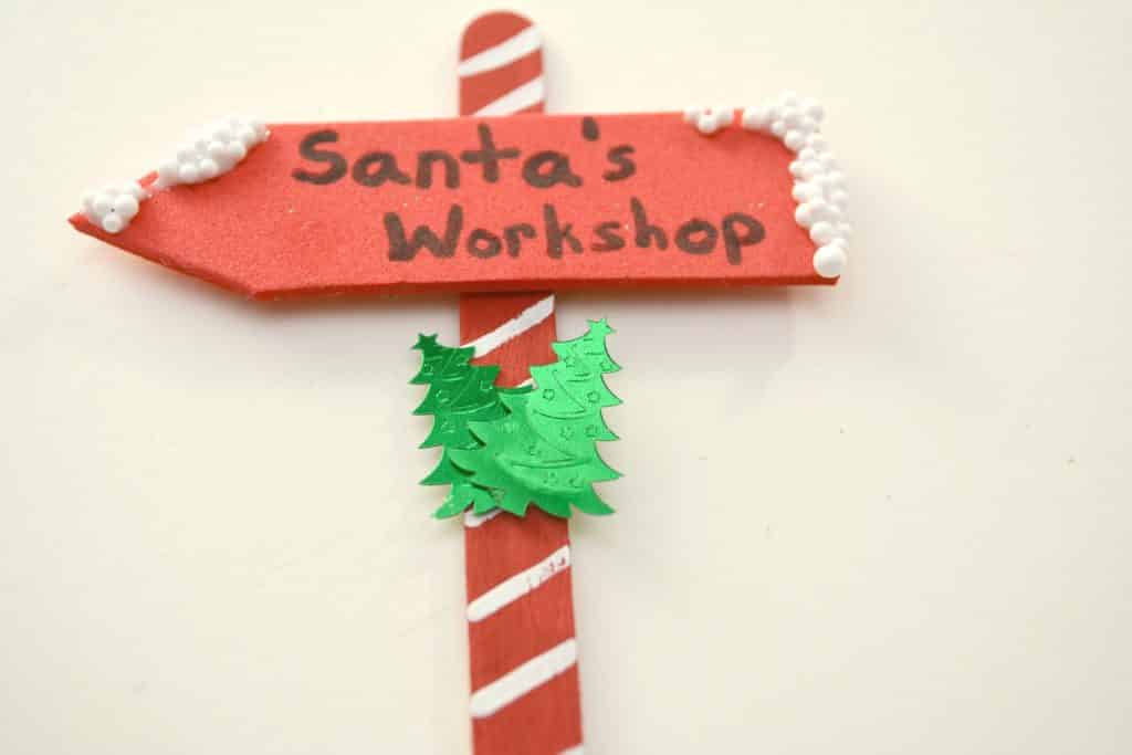 Santa's workshop christmas ornament