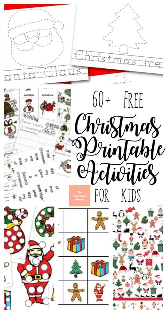 60+ Free Christmas Printable Activities for Kids - The Unprepared Mommy
