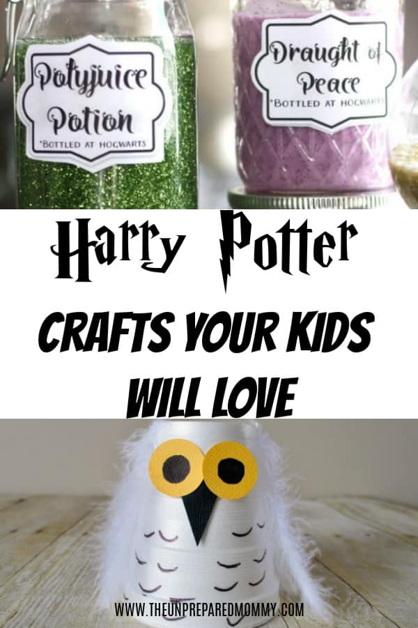Harry Potter fans will love to do all of these Harry Potter crafts for kids! #kidscrafts #harrypotter