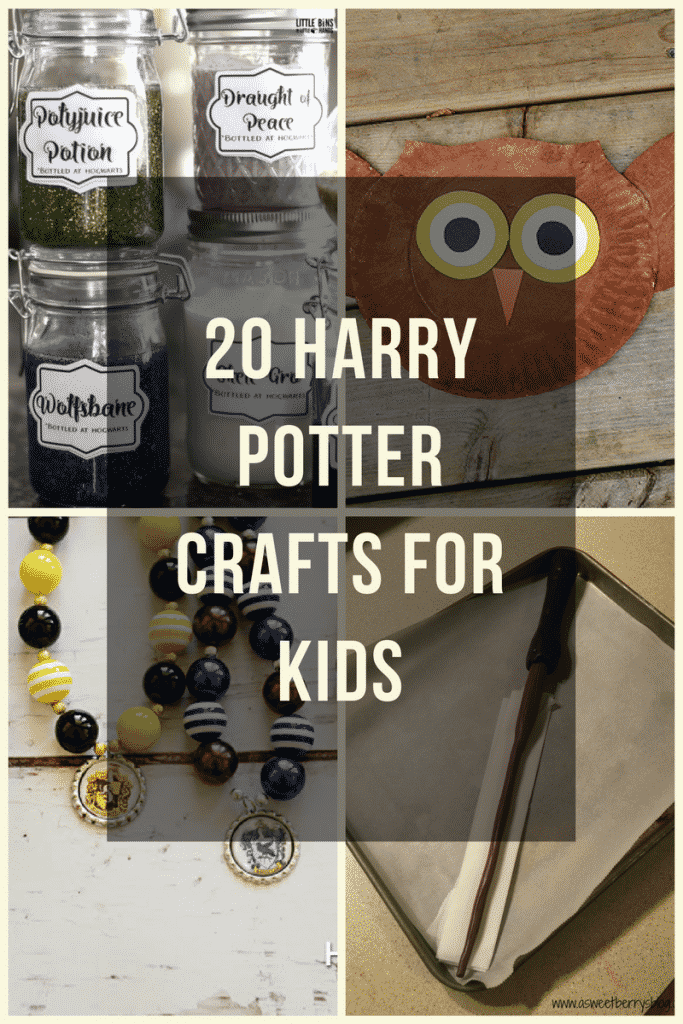 These Harry Potter crafts are a great way to incorporate some magic into your day! #harrypotter #kidscrafts