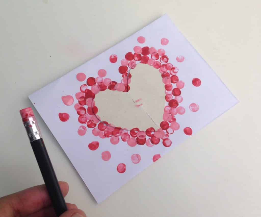 Valentine's Craft: Polka Dot Heart Card