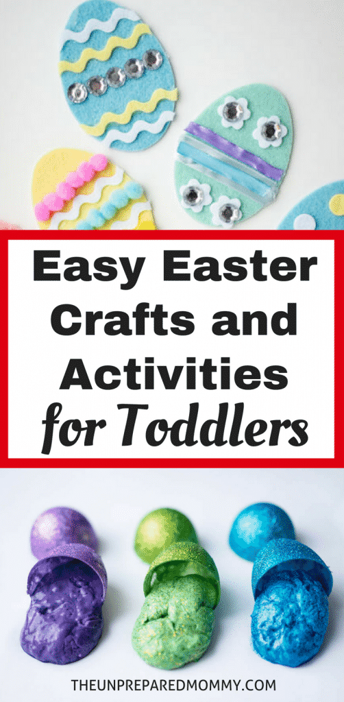 These fun and easy Easter crafts and activities for toddlers are sure to keep them busy for hours! Easter printables free activities #easter #eastercrafts #easterbunny #easteregg