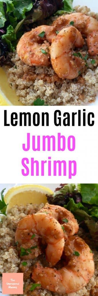 lemon garlic jumbo shrimp
