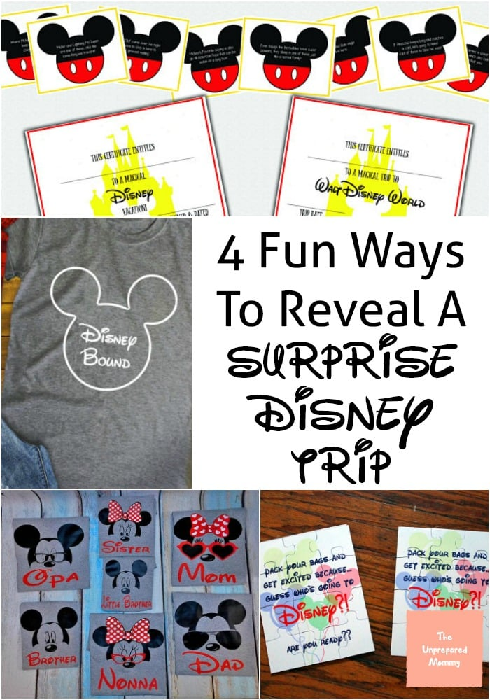 4 Fun Ways To Reveal A Surprise Disney Trip The
