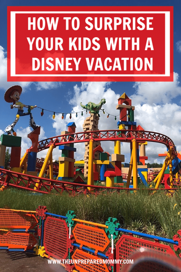 Instead of just telling your kids you are going to Disney, have them work a little bit for it. Learn how to surprise your kids with a Disney trip with these revealing ideas! #disney #surprise #disneyworld