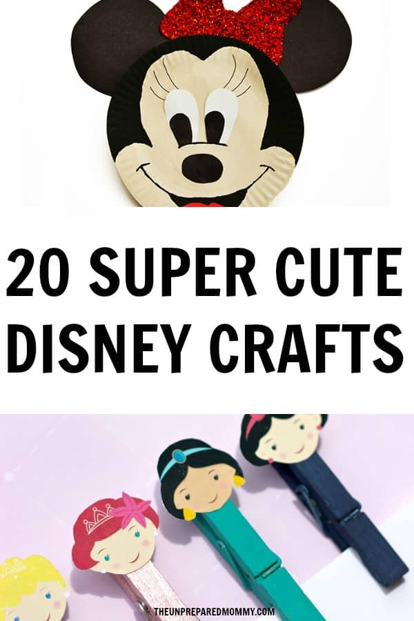 Have a magical time doing these super cute Disney crafts with your kids. #disney #crafts #kids #parenting