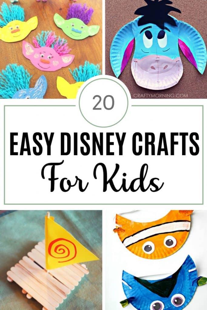 easy disney crafts for kids #disney #disneycrafts