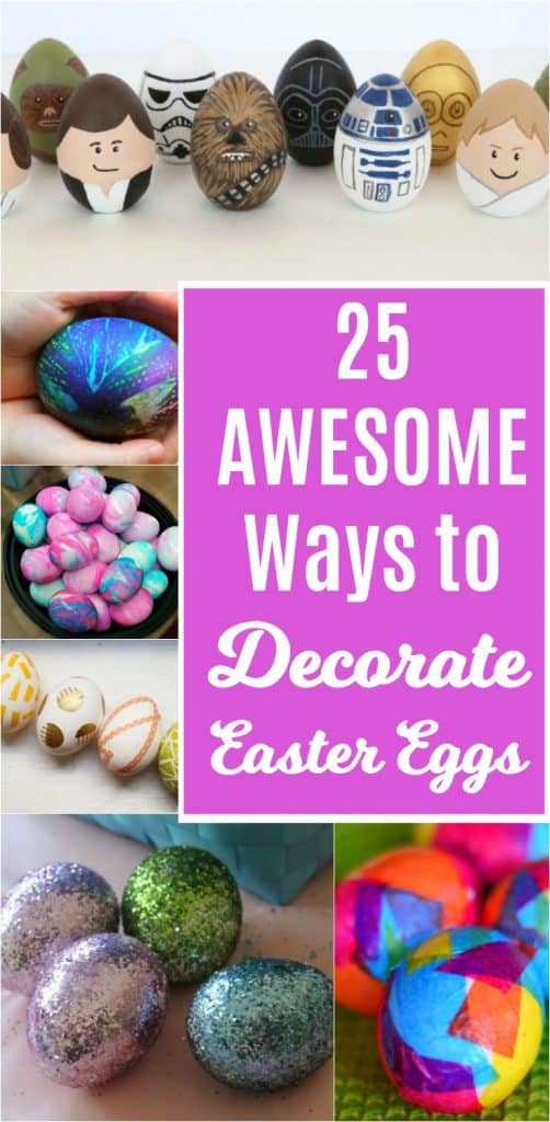 Try one of these awesome ways to decorate Easter eggs and you'll never go back to dunking them again. #eastereggs #easter