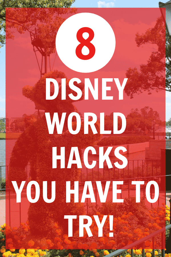 Heading to Disney World soon? You have to try these 8 Disney World hacks when you go. #disney #kids #disneyfood