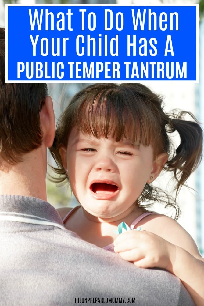 When your child is having a temper tantrum at the grocery store, you want to crawl and hide. Try these tips to calm a public temper tantrum so you can have a good day. #tempertantrums #toddlertantrums