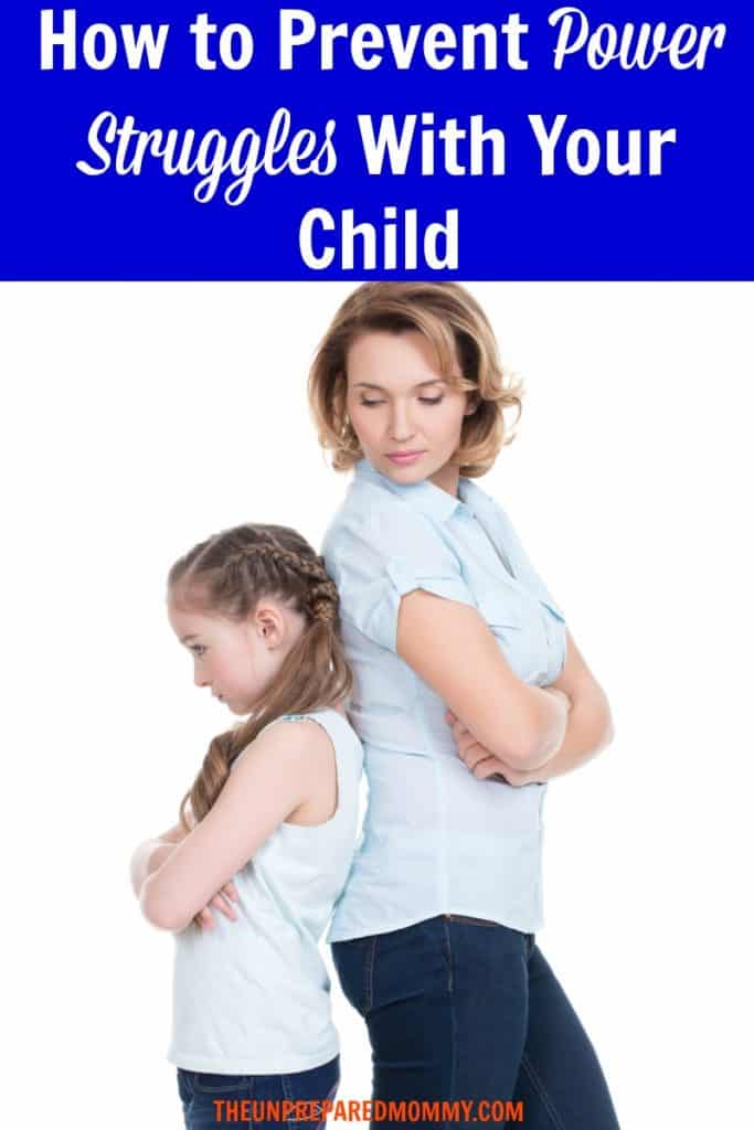 Learn how to prevent power struggles with your child. Prevent them from happening in the first place. #kids #parenting #parentingadvice #powerstruggle