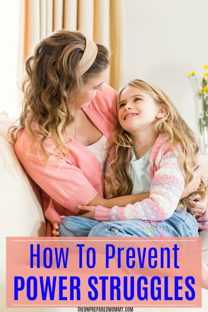 How to prevent power struggles with your child and have a peaceful relationship with them. #parenting