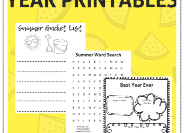 end of the year activities printables
