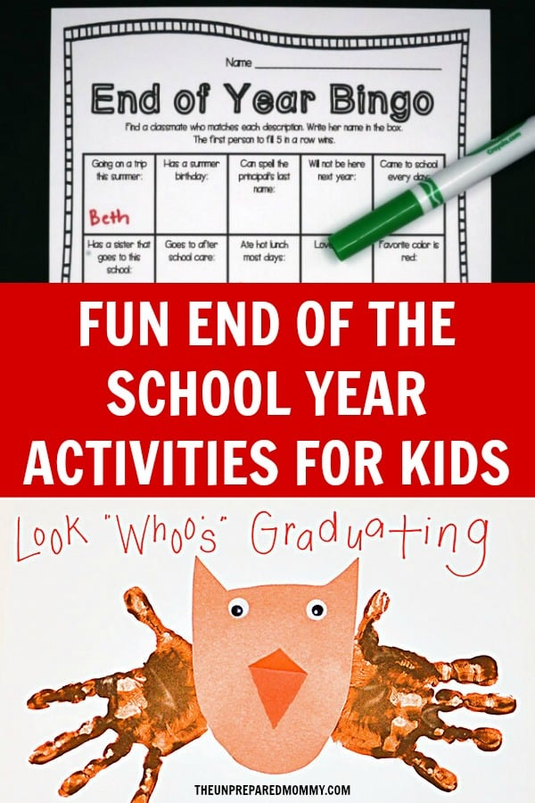 As we approach the end of the school year, let's reflect back on what we've learned with these end of the year activities for kids.
