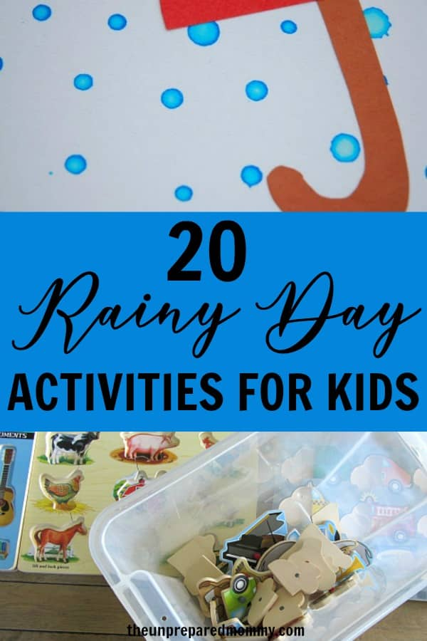 These rainy day activities for kids are sure to keep your kids entertained this summer when they can't go outside and play.