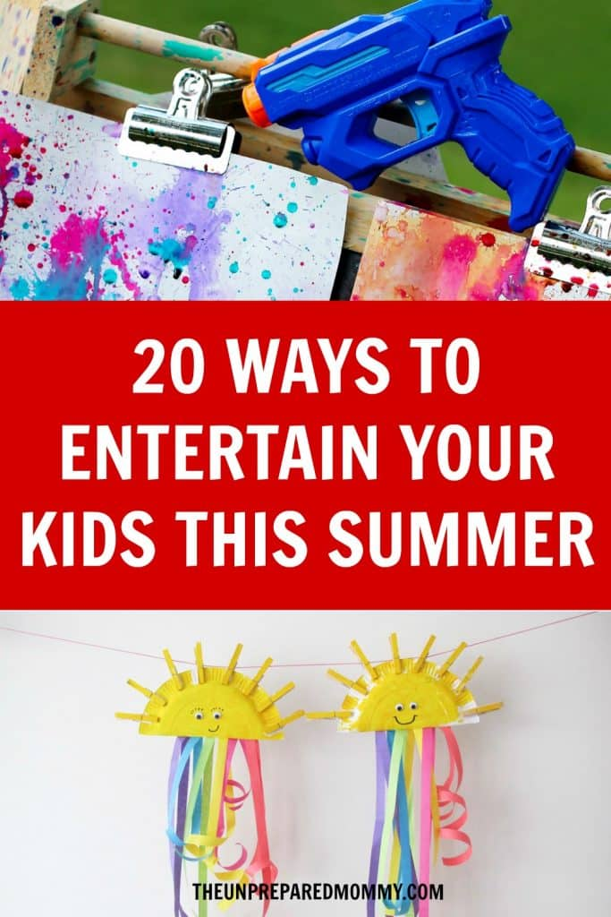 When your kids say they are bored this summer, let them do one of these 20 summer crafts for kids! #kidscrafts #summer #kids #parenting