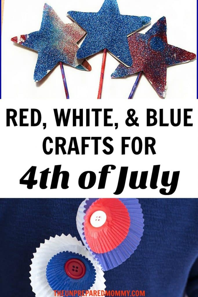 Enjoy celebrating 4th of July with these 4th of July crafts for toddlers! #kidscrafts #craftsforkids