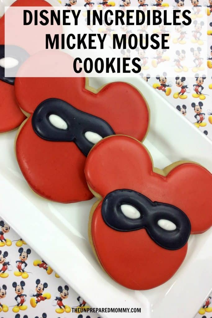 In honor of Incredibles 2 coming out, I have whipped up these Disney Incredibles Mickey Mouse cookies that are cute and delicious! #incredibles #disney #mickeymouse #cookies