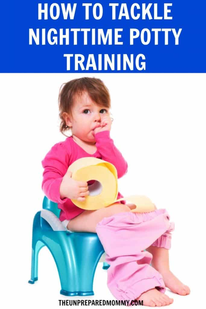Nighttime potty training can be rough, but follow these tips and welcome dry mornings in no time. #pottytraining #toddlers #parenting