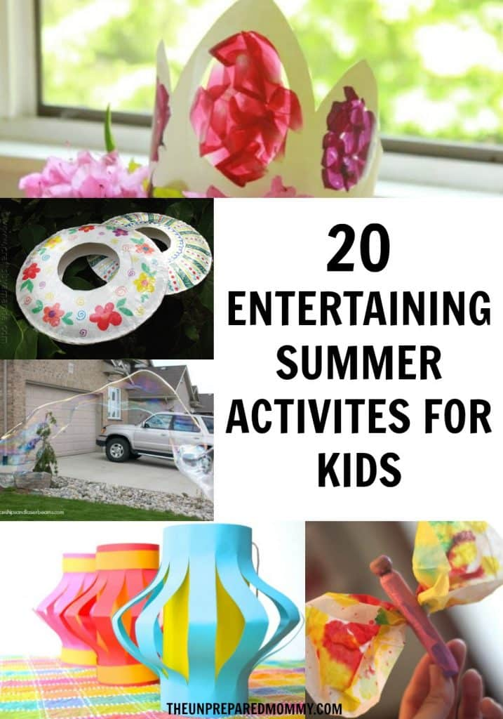 These summer activities for kids are sure to keep them from complaining they are bored! #kidscrafts #summercrafts #kids
