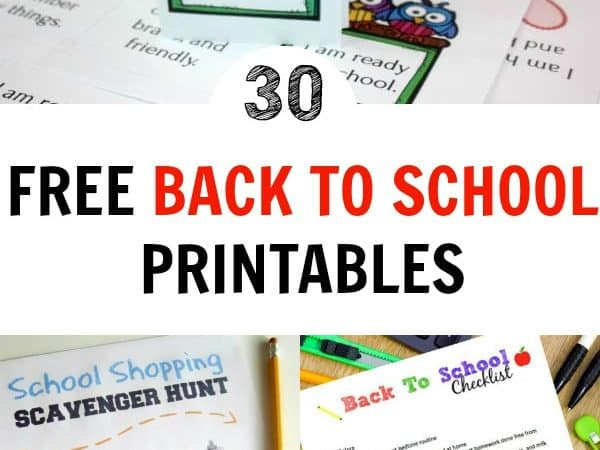 Getting into the back to school groove can be tedious. Use these free back to school printables to help get back into the swing of things. #backtoschool #kids
