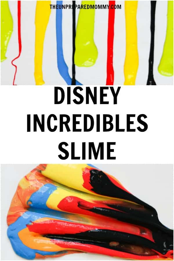 Learn how to make this Disney Incredibles slime recipe. #slime #disney